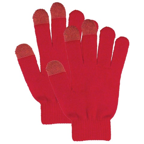 Touchscreen Gloves for Phone, Ipad or Gps Touchscreen, Red