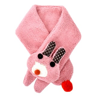 Girl's Winter Candy Colored Pastel Soft Plush Fleece Scarf, White3