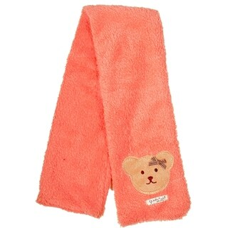 Girl's Winter Candy Colored Pastel Soft Plush Fleece Scarf, Orange