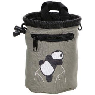 New Rock Climbing Panda Design Chalk Bag Adjustable Belt, 7184_Red