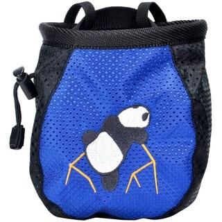 New Rock Climbing Panda Design Chalk Bag Adjustable Belt, 337-Blue