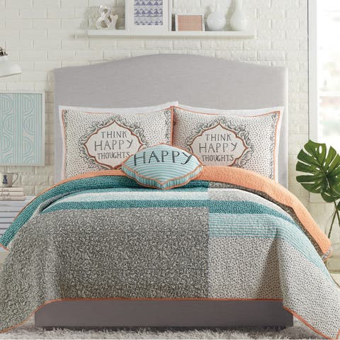 Molly Hatch Happy Thoughts Quilt Set By Makers Collective