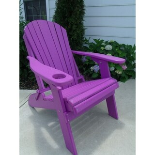 Folding Adirondack Chair w/ Cup Holder - Poly Lumber
