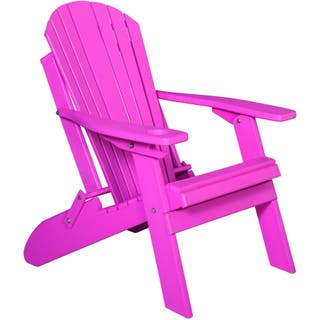 Pink Garden Furniture Pink patio furniture outdoor seating dining for less overstock poly folding adirondack chair with single cupholder option pink workwithnaturefo