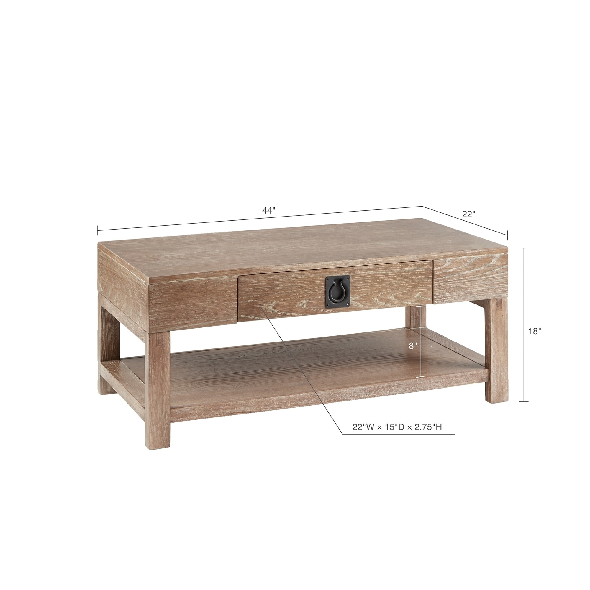 Ink Ivy Oaktown Light Grey Rectangle Coffee Table