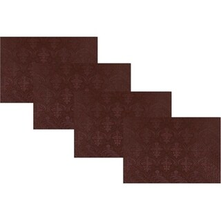 Dainty Home Venecia Faux Leather with Suede Backing Slip-Resistant Set of 4 Placemats