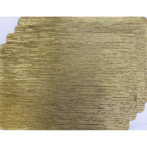 Dainty Home Galaxy Rectangular Stain-Resistant Reversible Metallic Set of 4 Placemats