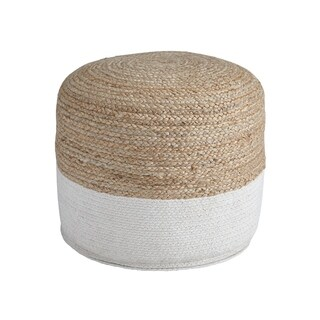 Signature Design by Ashley Sweed Valley Natural/White Pouf
