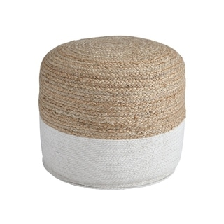 Link to Sweed Valley Natural/White Pouf Similar Items in Living Room Furniture