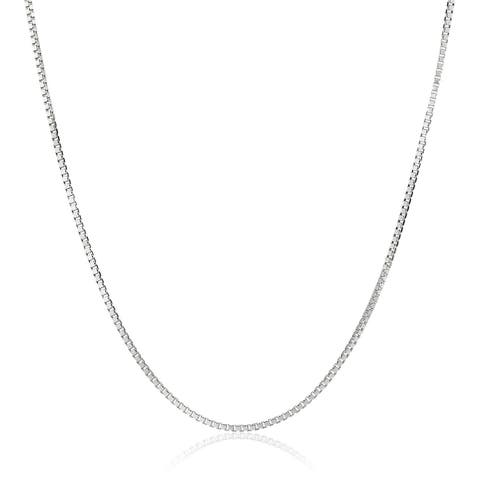 Pori Jewelers 14k Solid White Gold Box Chain Necklace