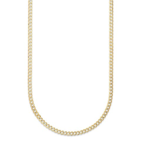Pori Jewelers 14k Solid Gold Cuban Chain Necklace