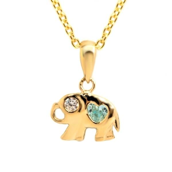 Shop pori jewelers 14k solid gold elephant pendant necklace boxed pori jewelers 14k solid gold elephant pendant necklace boxed aloadofball Images