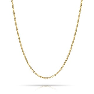 Pori Jewelers 18k Solid Gold Anchor Diamond-cut Chain necklace