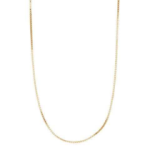 Pori Jewelers 14k Solid Gold Box Chain Necklace