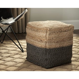 Signature Design by Ashley Sweed Valley Natural/Black Pouf