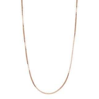 Pori Jewelers 14k Solid Rose Gold Box Chain Necklace