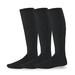 Teehee Socks Acrylic Unisex Soccer Sports Team Cushion Socks 3 Pack (Junior 7-9)