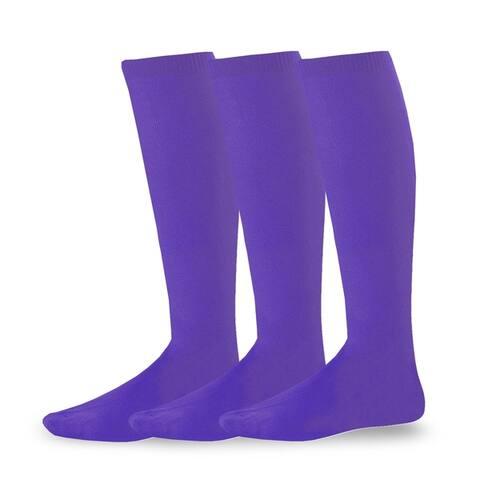 Teehee Socks Acrylic Unisex Soccer Sports Team Cushion 3 Pack