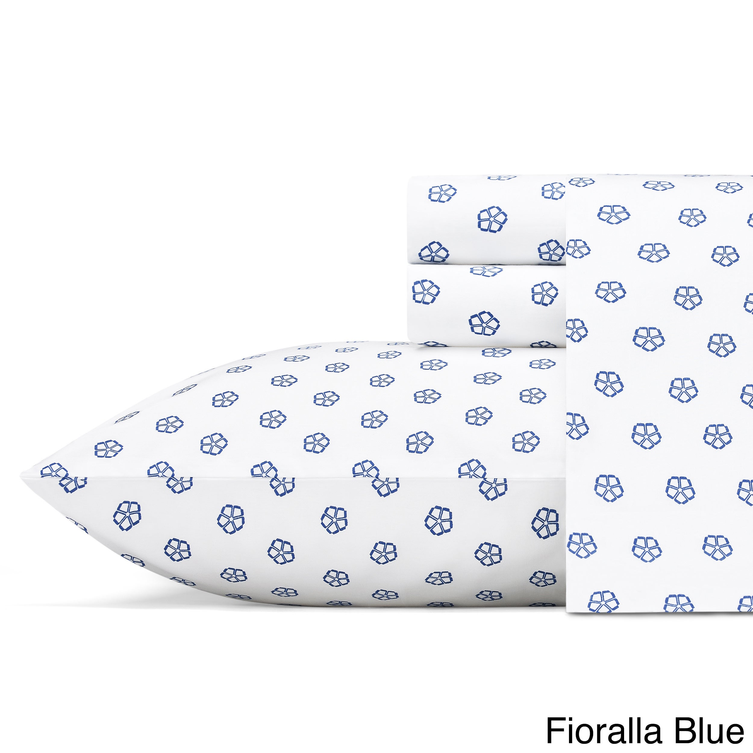 Flat Sheet Pillowcases Agnes Floral Sheets 100/% Cotton Printed Fitted
