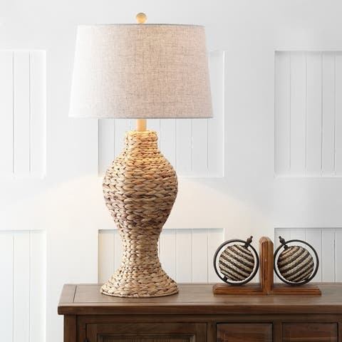 """Elicia 31"""" Seagrass Weave LED Table Lamp, Natural by JONATHAN Y"""