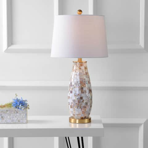 "Jocelyn 28"" Seashell LED Table Lamp, Natural by JONATHAN Y"