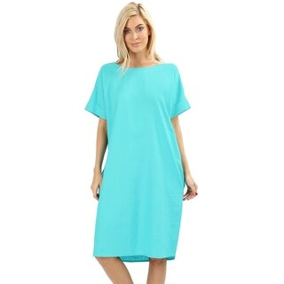 JED Women's Relaxed Fit Knee Length Linen Casual Dress