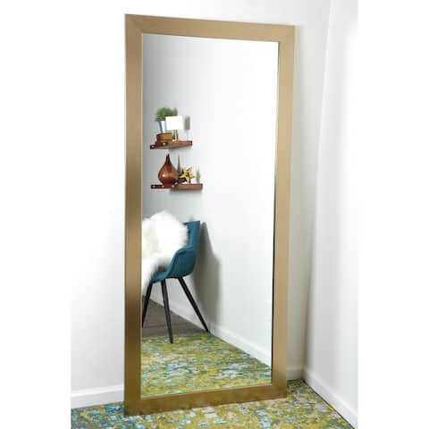 Contemporary Champagne Full Length Mirror
