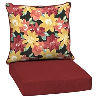 Arden Selections Ruby Abella Floral Outdoor Deep Seat Set