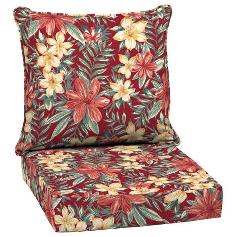 Arden Selections Ruby Clarissa Tropical Outdoor Deep Seat Set - 46.5 in L x 25 in W x 6.5 in H