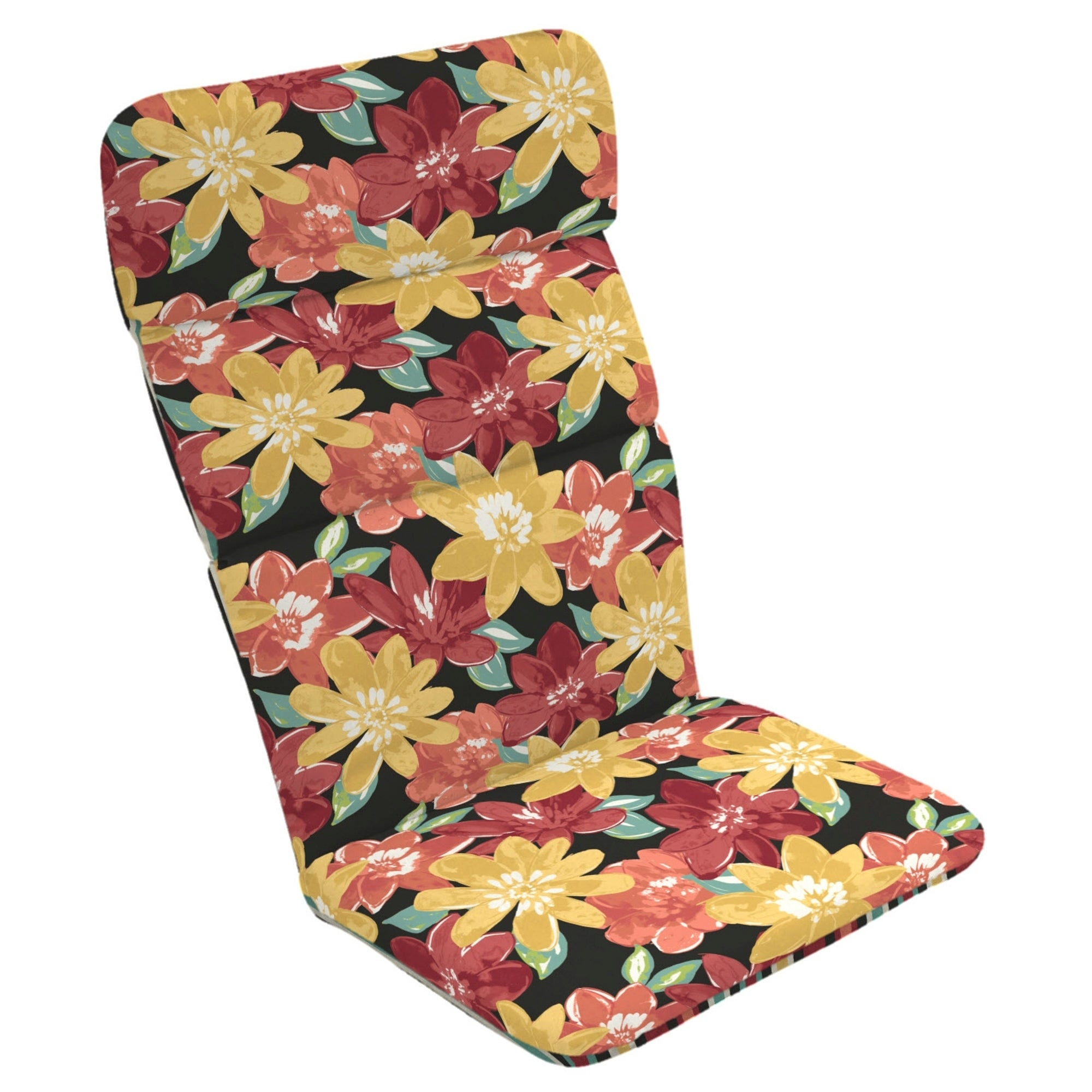 Arden Selections Floral Reversible Outdoor Adirondack Chair Cushion