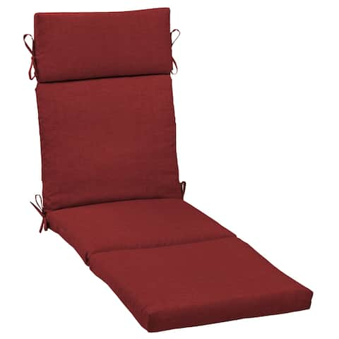 Arden Selections Ruby Leala Texture Outdoor Cartridge Chaise Cushion - 72 in L x 21 in W x 4 in H