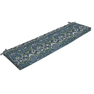 Arden Selections Sapphire Aurora Damask Outdoor Bench Cushion