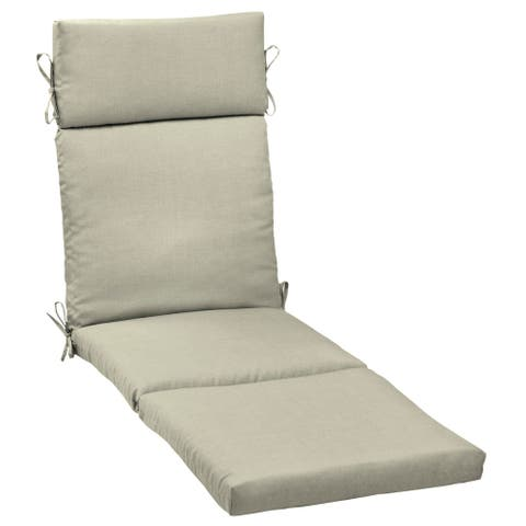 Arden Selections New Tan Leala Texture Outdoor Cartridge Chaise Cushion - 72 in L x 21 in W x 4 in H