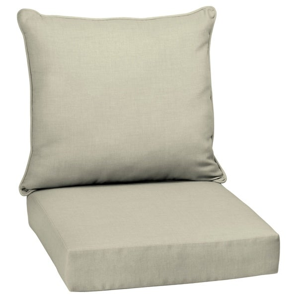 Arden Selections Tan Outdoor Deep Seat Cushion Set