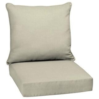 Arden Selections New Tan Leala Texture Outdoor Deep Seat Set