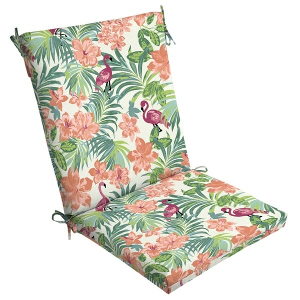 Arden Selections™ Luau Flamingo Tropical Outdoor Clean Finish Chair Cushion