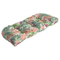 Arden Selections™ Luau Flamingo Tropical Outdoor Wicker Settee