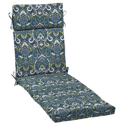 Arden Selections Sapphire Aurora Damask Outdoor Cartridge Chaise Cushion
