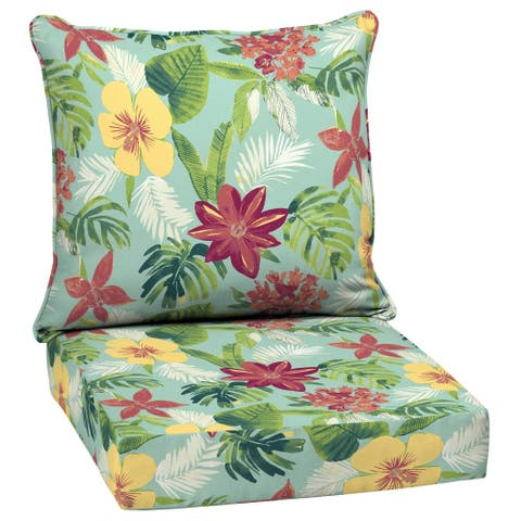 Arden Selections Elea Tropical Outdoor Deep Seat Set - 46.5 in L x 25 in W x 6.5 in H