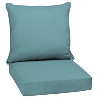 Arden Selections Surf Canvas Acrylic Outdoor Deep Seat Set - 46.5 in L x 25 in W x 6.5 in H