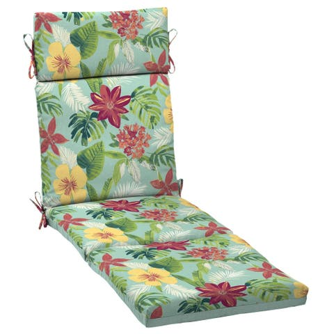 Arden Selections Elea Tropical Reversible Outdoor Cartridge Chaise Cushion