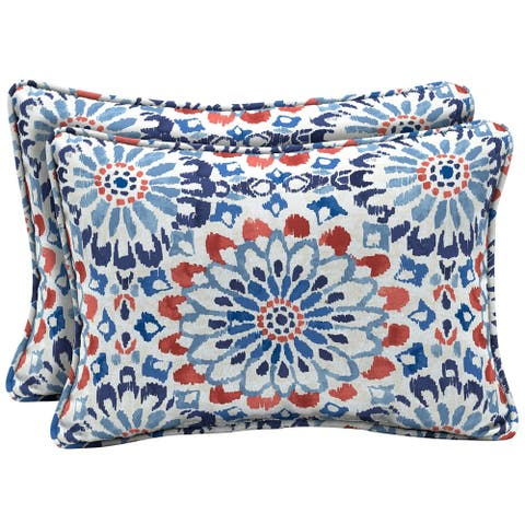 Arden Selections Clark Outdoor Oversized Lumbar Pillow 2-Pack - 15 in L x 22 in W x 6 in H