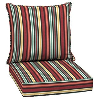 Arden Selections Ruby Abella Stripe Outdoor Deep Seat Set