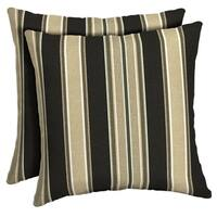Arden Selections Aurora Stripe Reversible Outdoor Square Pillow 2-Pack