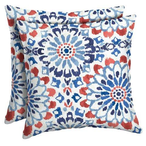 Arden Selections Clark Outdoor Square Pillow (2-Pack) - 16 in L x 16 in W x 5 in H