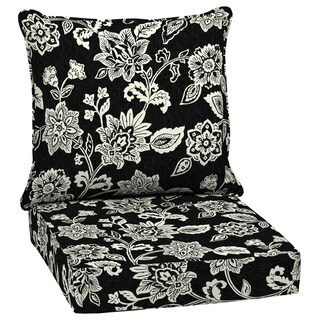 Arden Selections Ashland Jacobean Outdoor Deep Seat Set - 46.5 in L x 24 in W x 5.75 in H