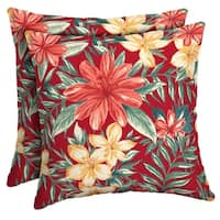 Arden Selections™ Ruby Clarissa Tropical Outdoor Square Pillow (2-Pack)