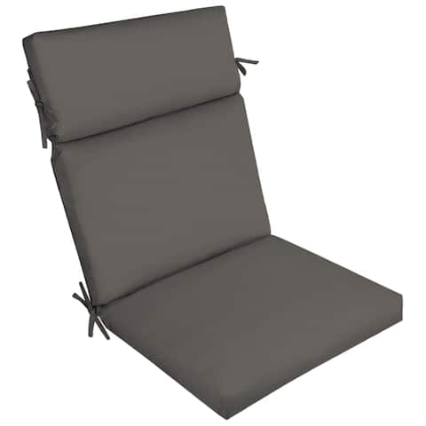 Arden Selections Slate Canvas Texture Outdoor Cartridge Chair Cushion - 44 in L x 21 in W x 4.5 in H