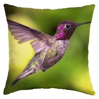 Arden Selections Hummingbird Flight Outdoor Square Pillow
