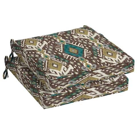 Arden Selections Tenganan Outdoor Seat Cushion 2-Pack - 21 in L x 21 in W x 5 in H